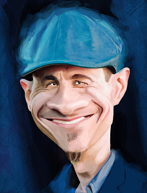caricature- mick