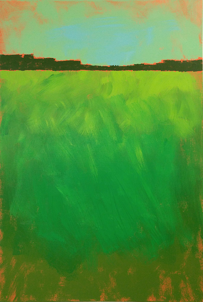 painting- green field