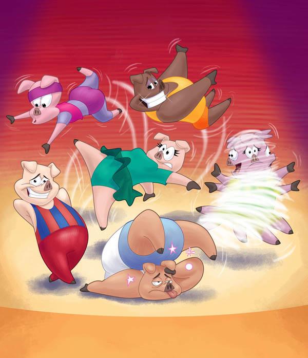 leapfrog- pigs win